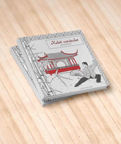 színező Gyimesi Zsuzsa Keleti varázslat könyv színezés